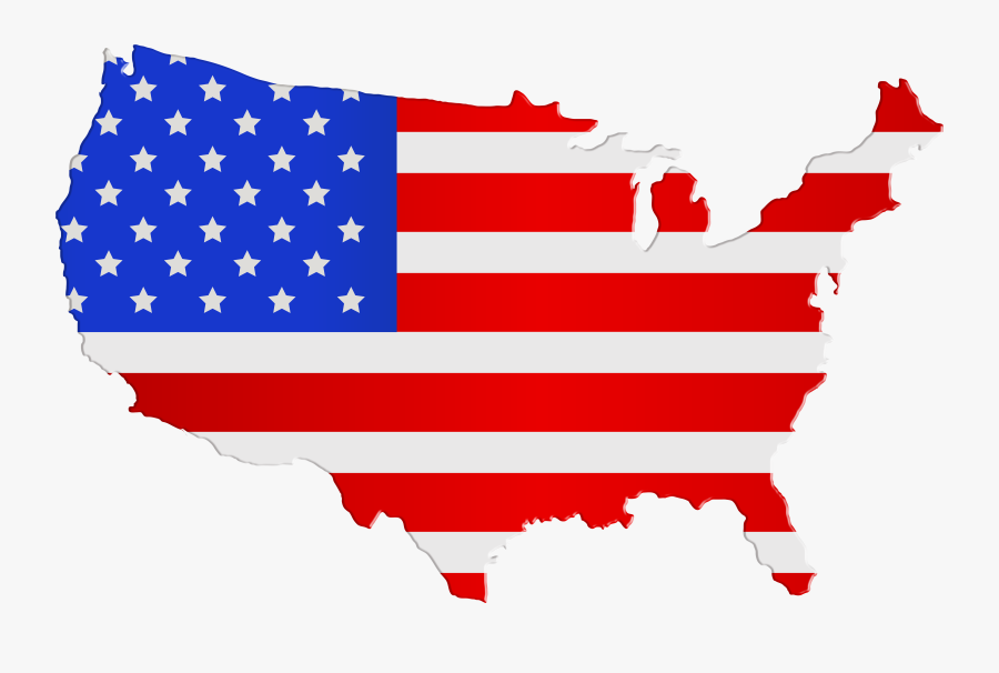 Free Clipart Usa Map - Usa Map Flag Png, Transparent Clipart