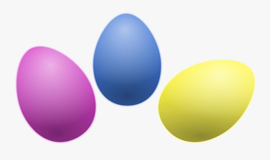 Colored Eggs Easter - Clipart Transparent Easter Egg, Transparent Clipart