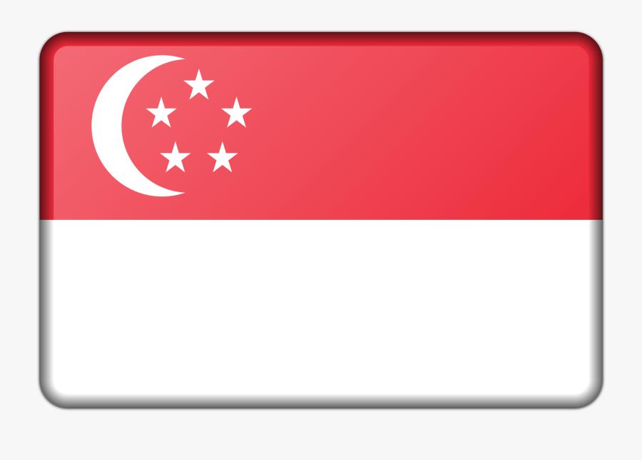 Singapore Flag Clipart Outline - Flag Singapore Icon Png, Transparent Clipart