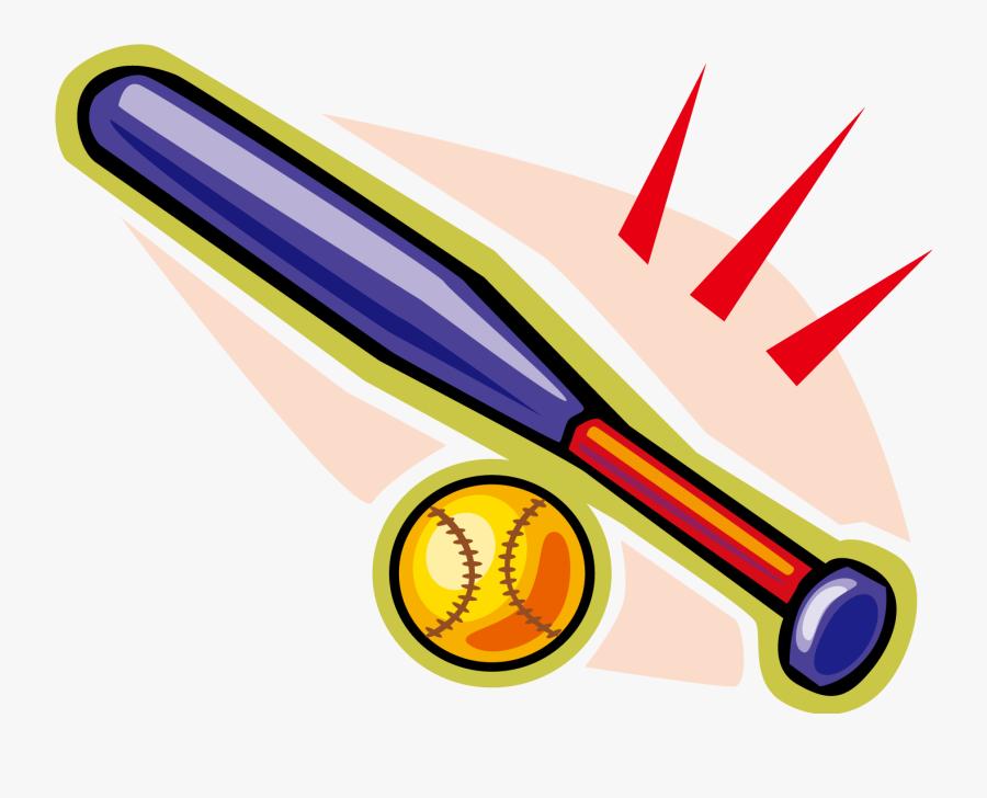 Transparent Baseball Bat Clipart Png - Bat And Ball Clip Art, Transparent Clipart