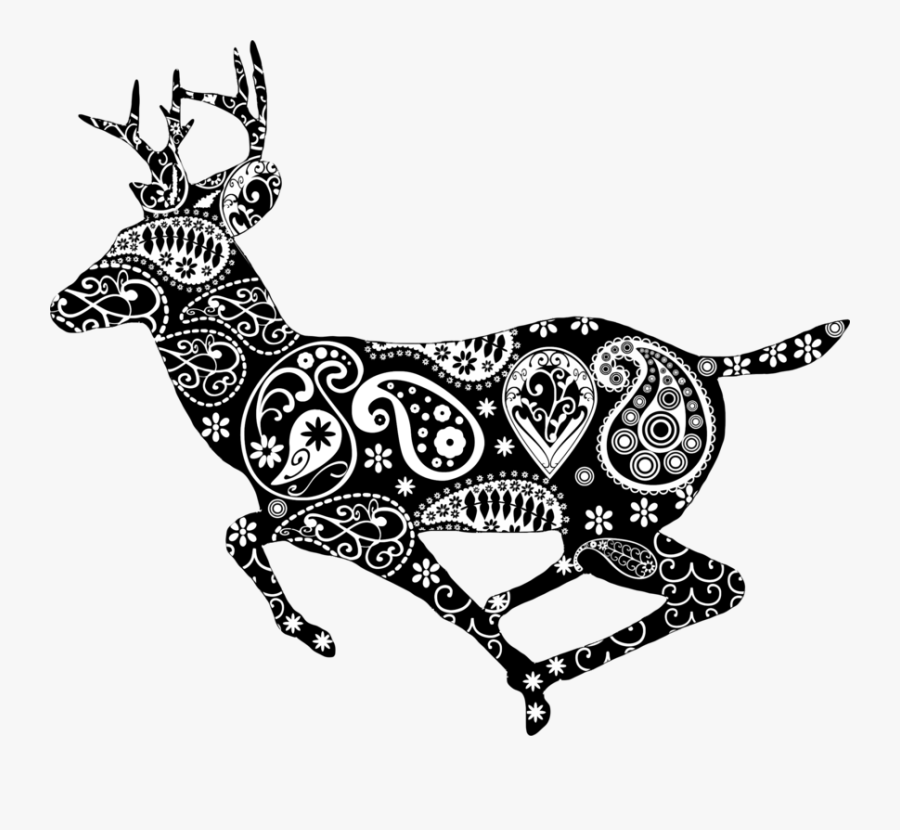 Clip Art Reindeer Coloring Book White - Hunting Deer Png Clipart, Transparent Clipart