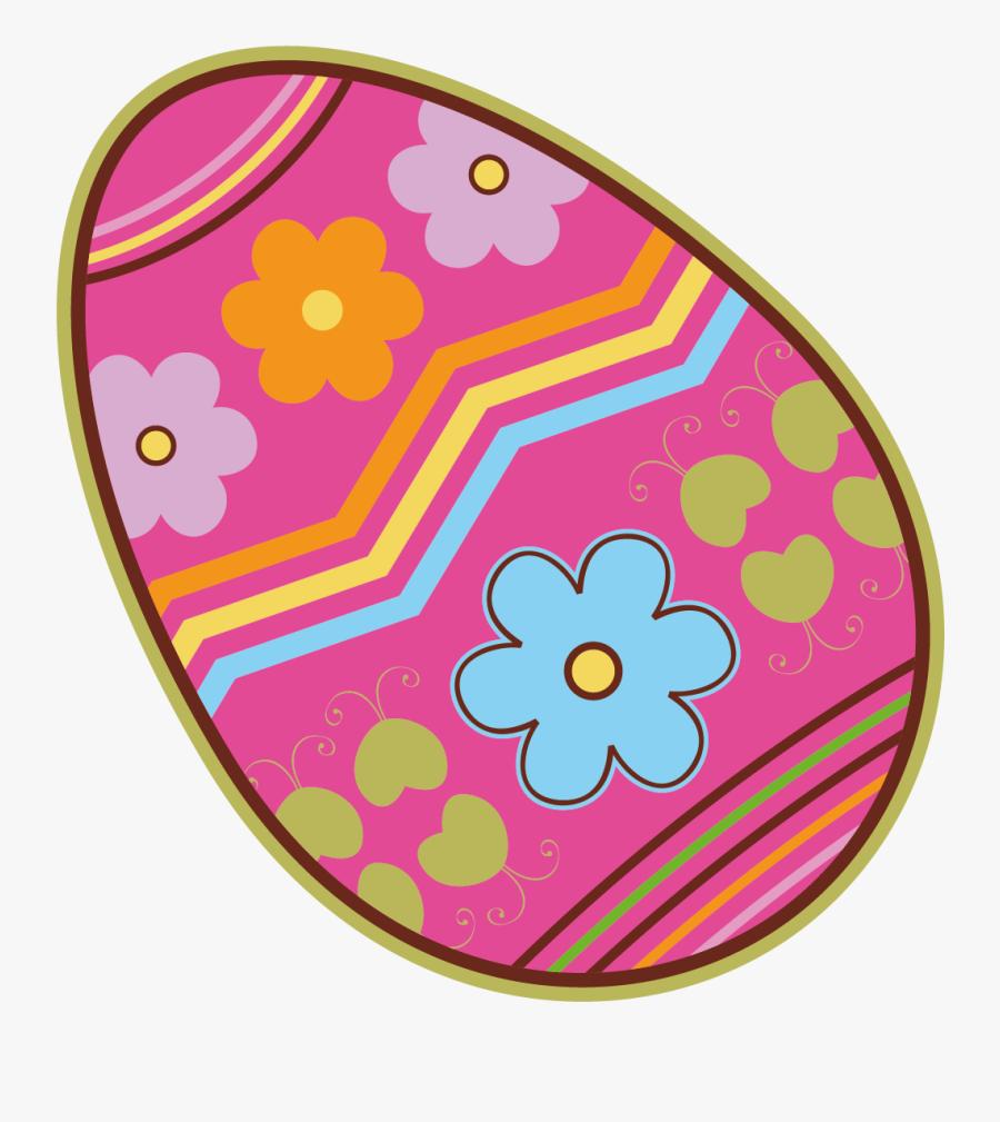 Transparent Easter Egg Clipart Png - Pink Clip Art Easter Egg, Transparent Clipart