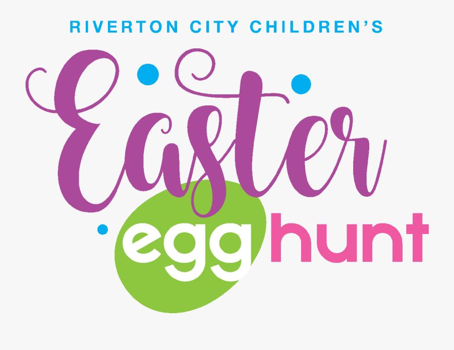 Children S Easter Egg Huntchildren Ages 12 And Under - Easter Egg Hunt Logo, Transparent Clipart