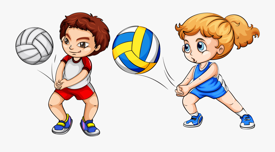 Transparent Playing Png - Volleyball Sports Clipart, Transparent Clipart