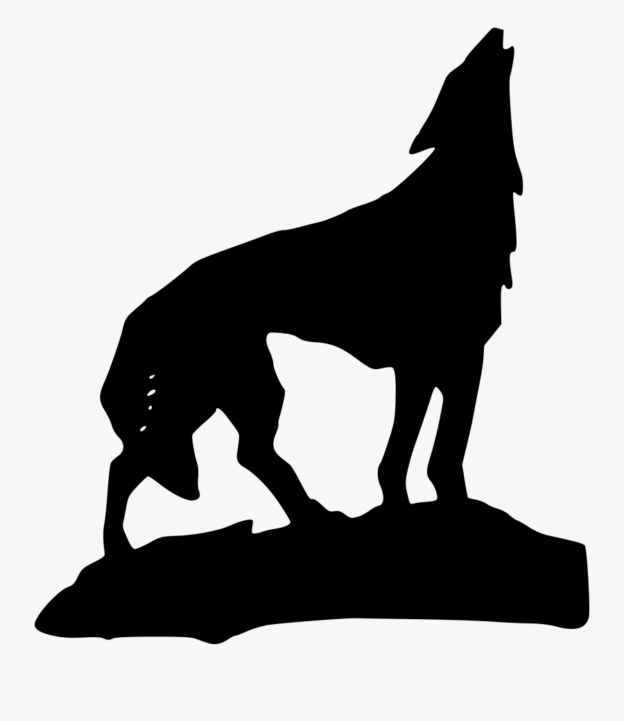 Gray Wolf Cliparts 12, - Wolf Clip Art, Transparent Clipart