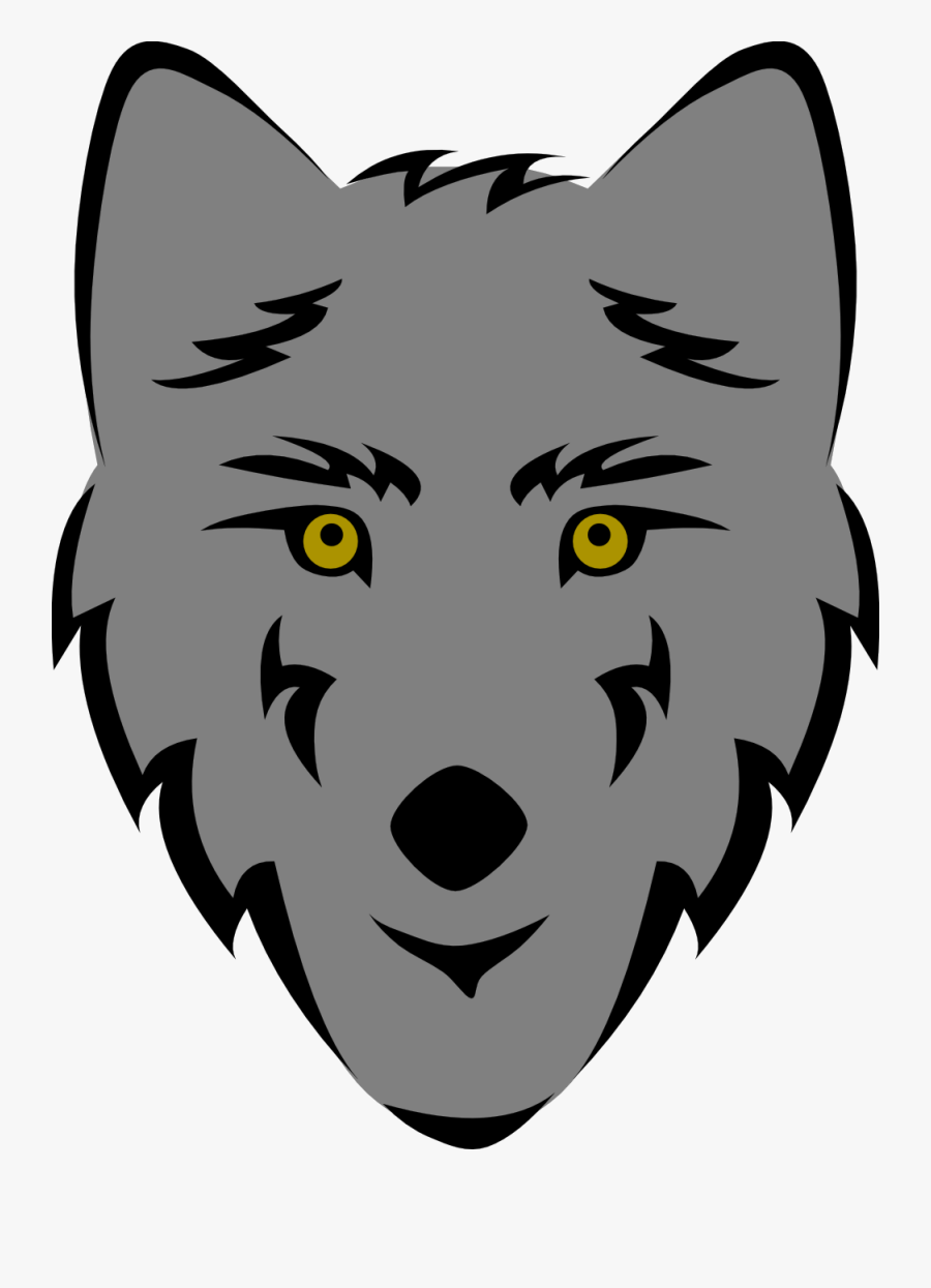 Wolf Head - Easy Wolf Head Drawing, Transparent Clipart