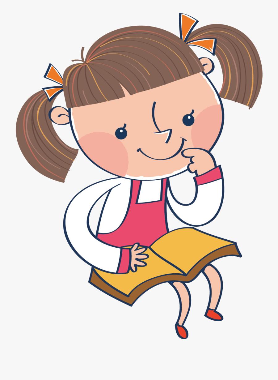 Girl Clip Art - Thinking Girl Clip Art, Transparent Clipart