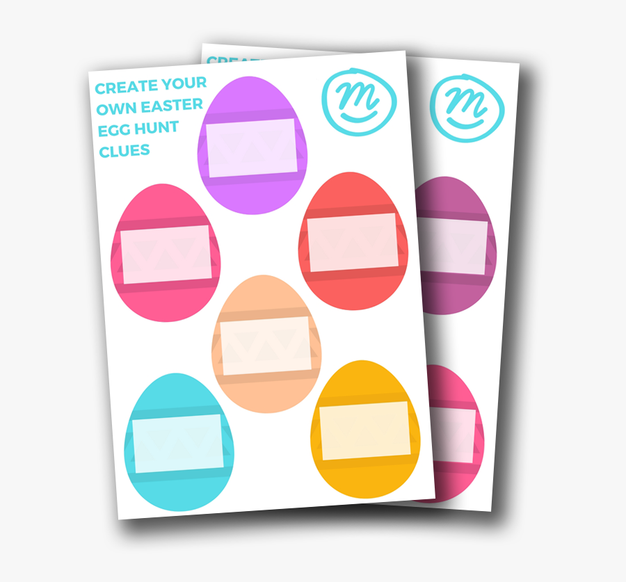 Make Your Own Egg - Easter Egg Hunt Clues Template, Transparent Clipart