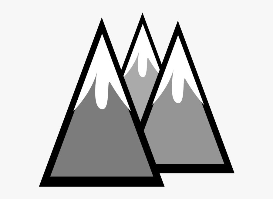 Snow Capped Mountain Clipart, Transparent Clipart