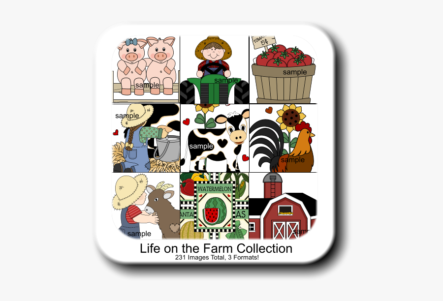 Life On The Farm Collection 231 Images Total, 3 Formats - Farm Clip Art, Transparent Clipart
