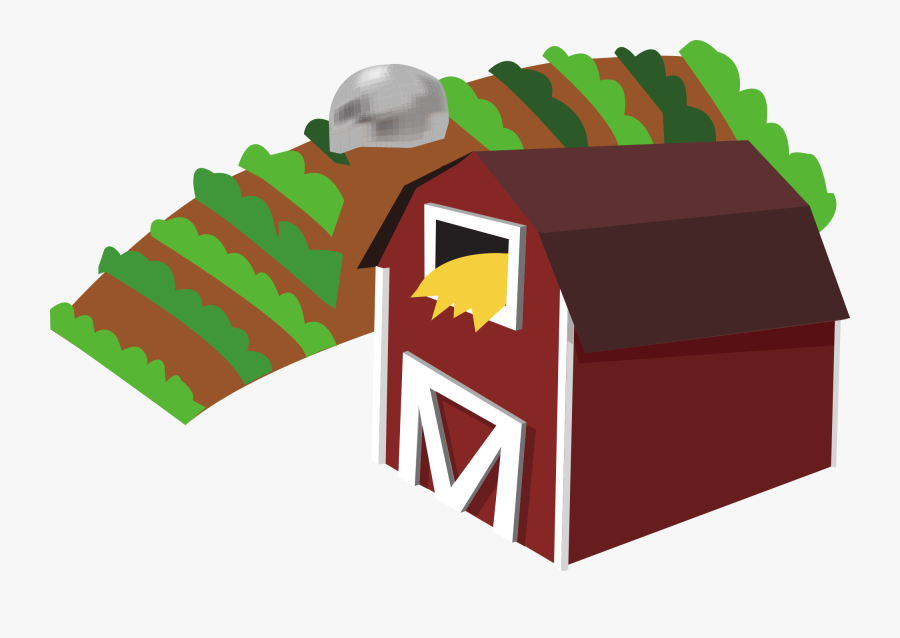 Red Barn Clipart - Farm Transparent Background, Transparent Clipart