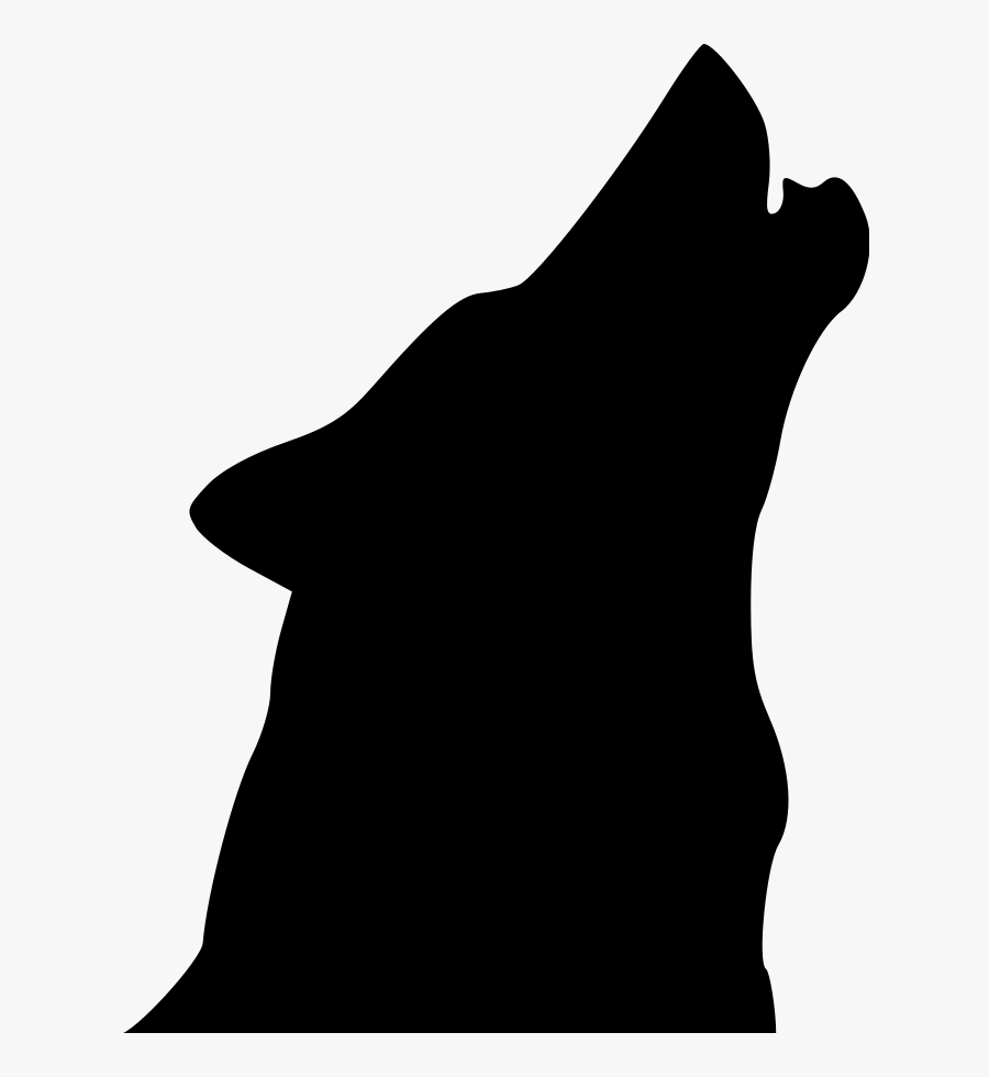 White Wolf Clipart Svg Free - Howling Wolf Head Silhouette, Transparent Clipart