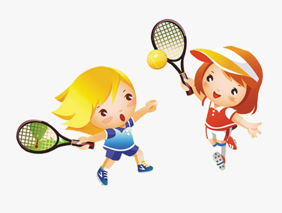 Tennis Girl Play Child Clip Art - Girl Playing Tennis Clipart, Transparent Clipart