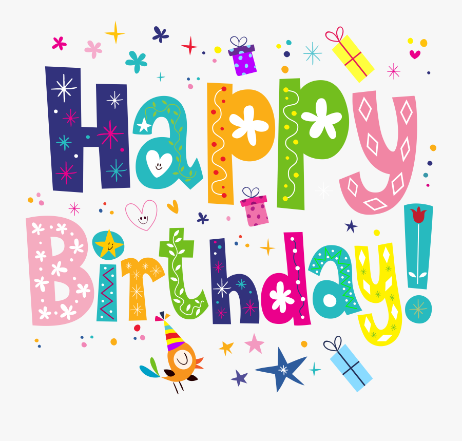 Happy Birthday Clipart Png - Transparent Background Happy Birthday Clipart, Transparent Clipart