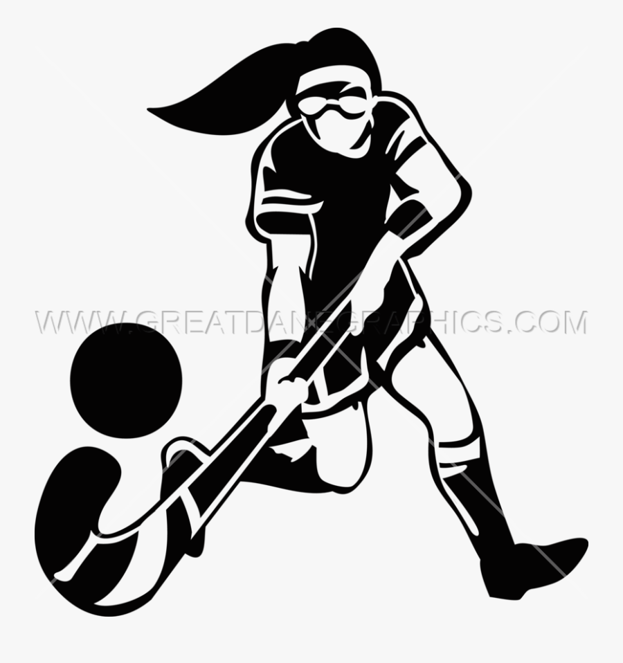 Field Hockey Silhouette At Getdrawings - Field Hockey Player Drawing, Transparent Clipart