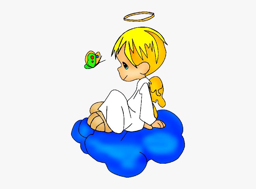 Baby Angel Clipart - Cute Angel Boy Cartoon, Transparent Clipart