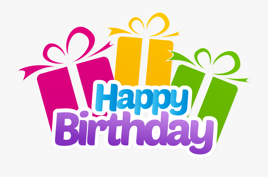 Happy Birthday With Gifts Png Clip Art Imageu200b Gallery - Happy Birthday Wishes Png, Transparent Clipart