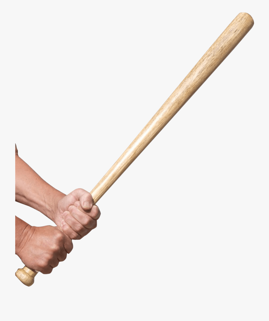 Hands Holding A Baseball Bat Transparent Png - Hands Holding Baseball Bat, Transparent Clipart