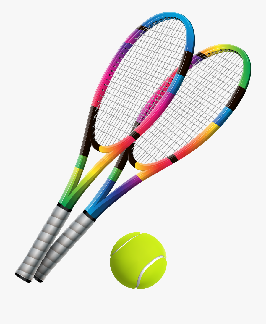 Tennis Rackets And Ball Transparent Png Clip Art - Tennis Racket And Ball Png, Transparent Clipart