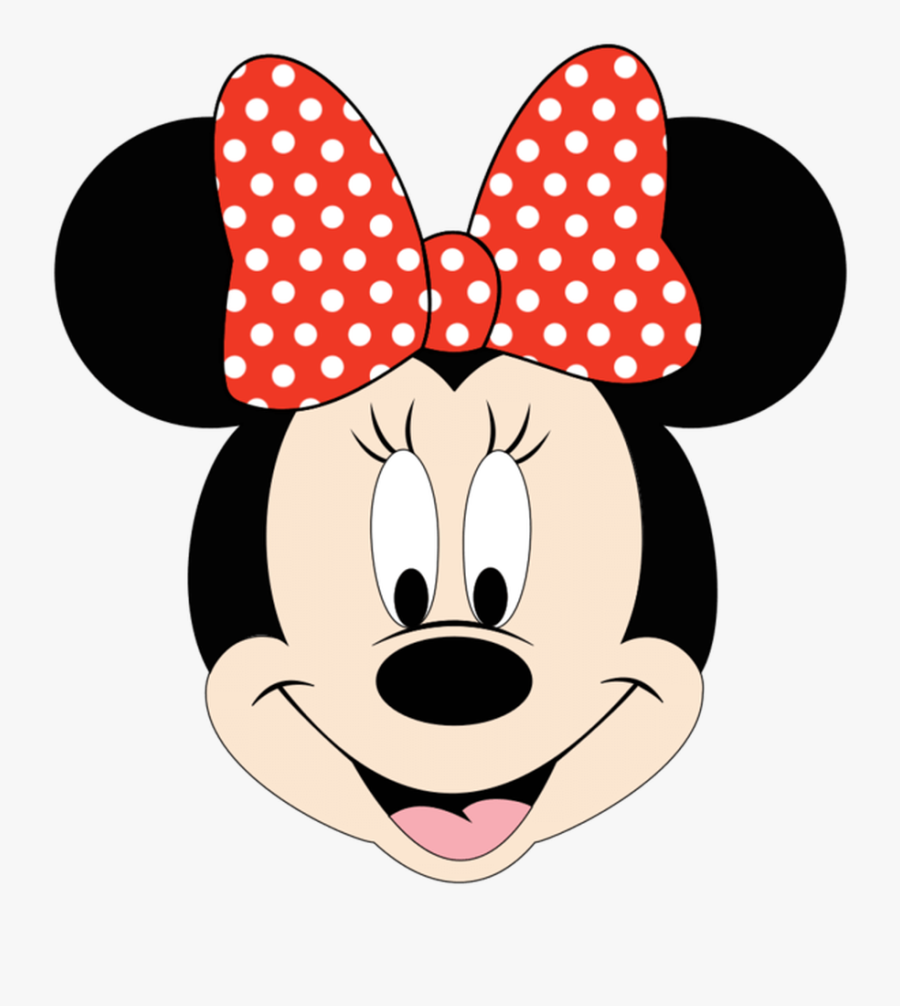 Red Minnie Mouse Face, Transparent Clipart