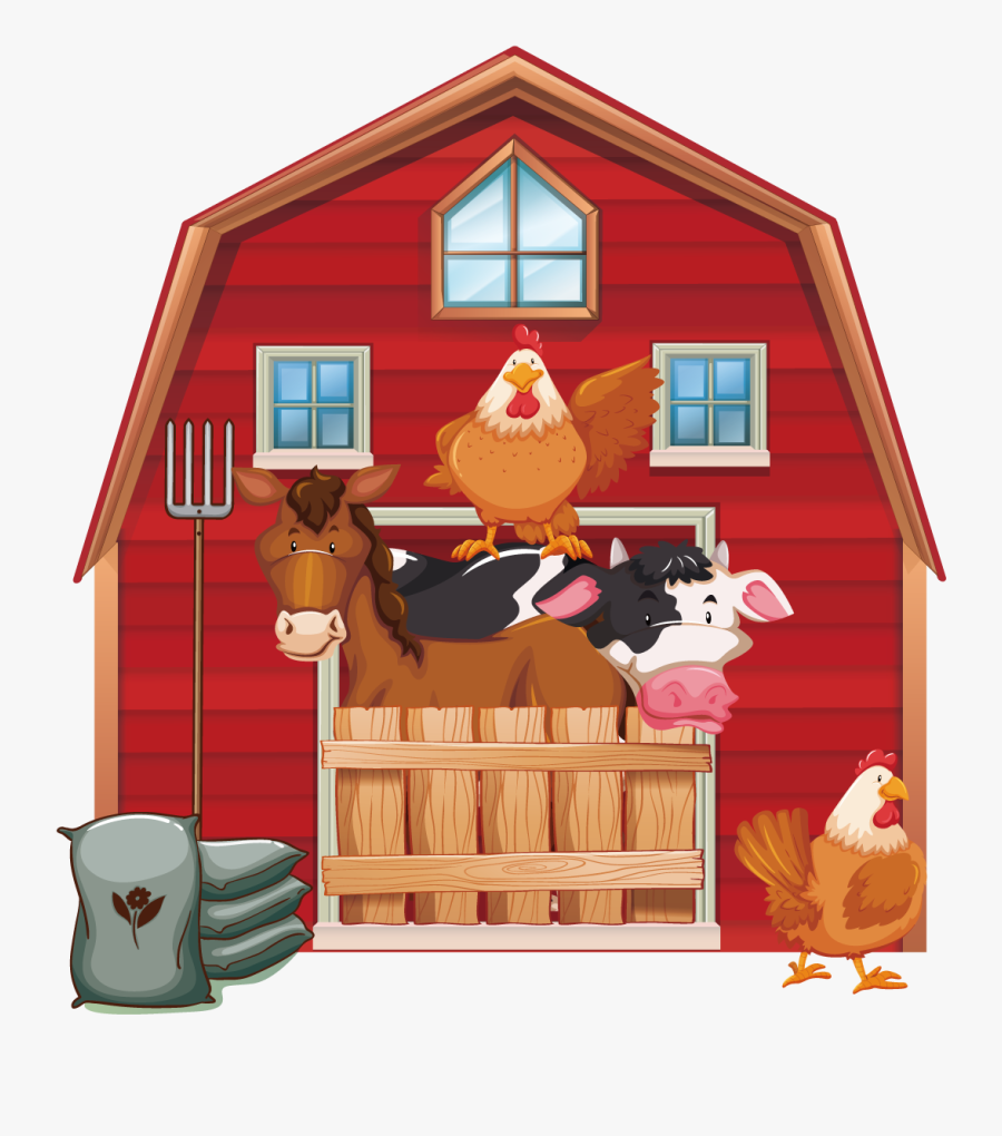 Cattle Silo Farm Barn Clip Art - Free Barn Animal Clip Art, Transparent Clipart