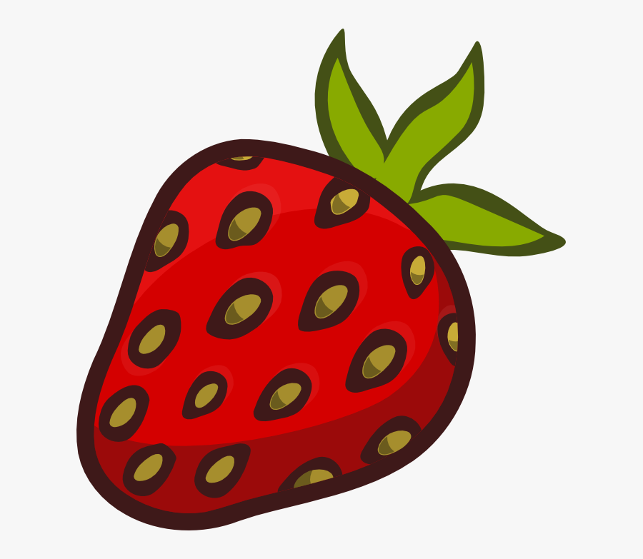 Strawberry Clipart Strawberry Fruit Clip Art Clipartandscrap - Fruits Cartoon Images Png, Transparent Clipart