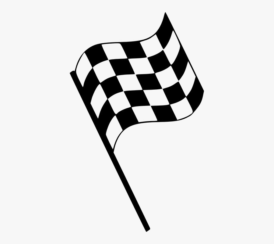 Racing Flag Clipart - Finish Line Flag Png, Transparent Clipart