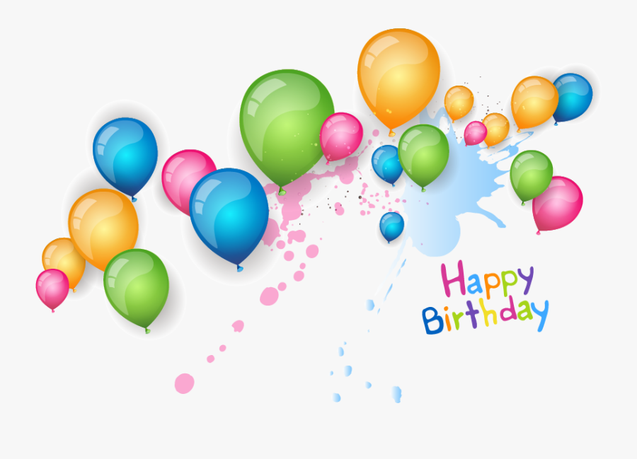 Balloon Birthday Clip Art - Happy Birthday Background Png, Transparent Clipart