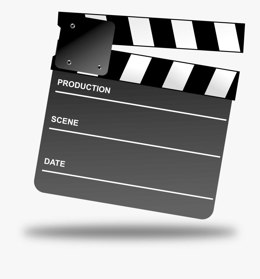 Clipart Movie Clapper Board Clipartix - Movie Clapper Board, Transparent Clipart