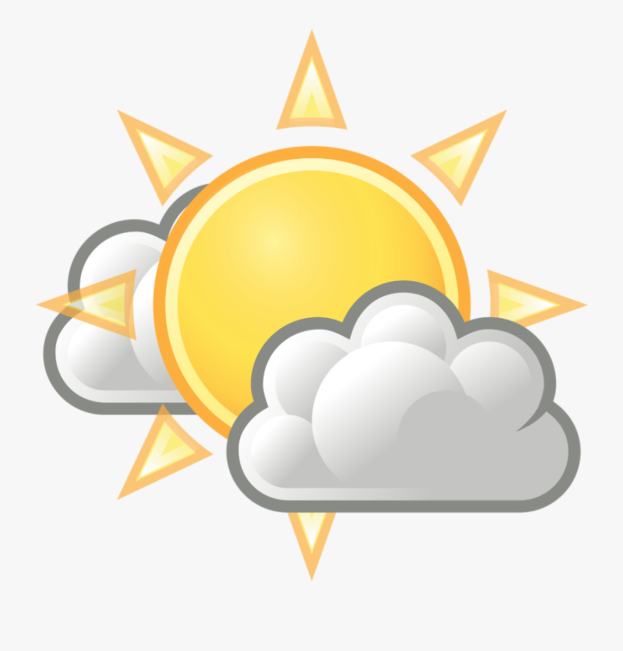 Sunshine Clipart Weather - Partly Cloudy Png, Transparent Clipart