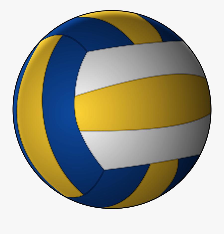Volleyball Beach Clip Art Sports Clipart De Voleibol - Volleyball With A White Background, Transparent Clipart