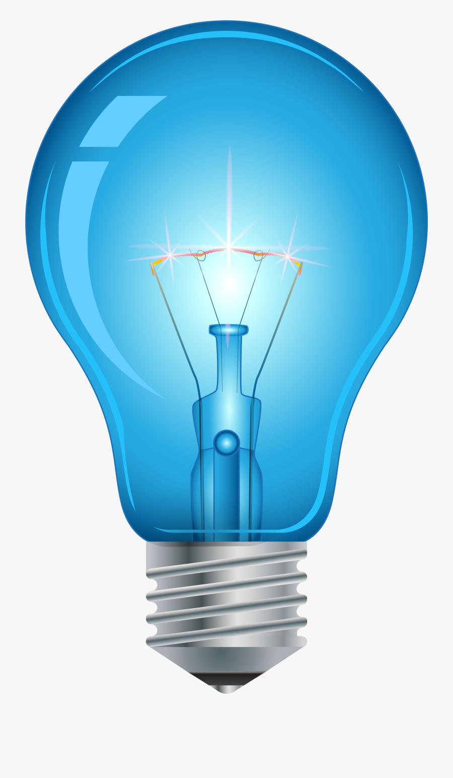 Blue Light Bulb Png Clip Art - Light Bulb Png Hd, Transparent Clipart