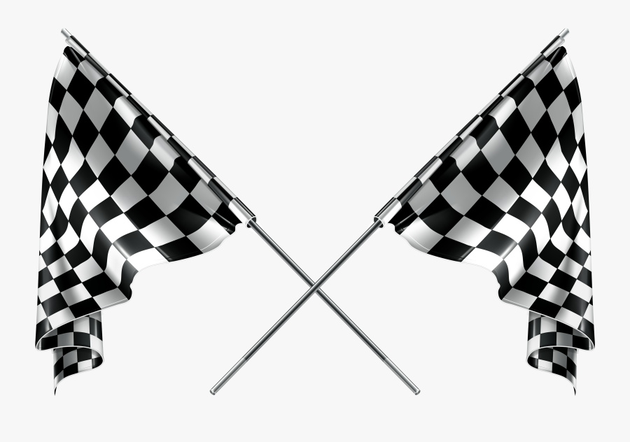 Checkered Flags Clipart Web - Racing Checkered Flag Png, Transparent Clipart