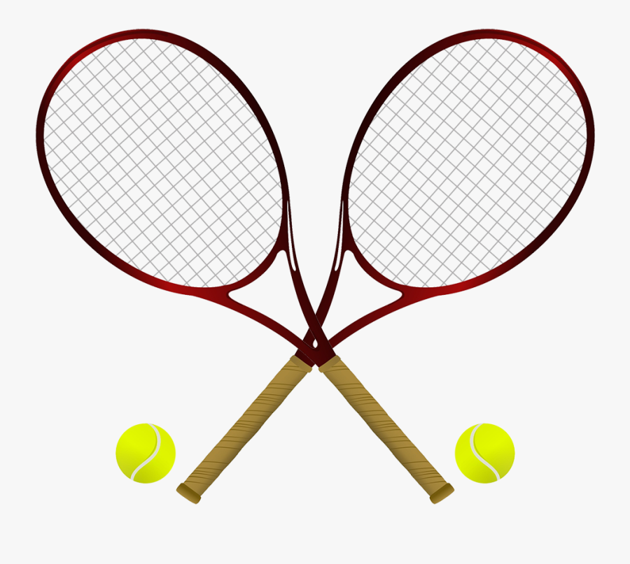 Sports Clipart Tennis - Tennis Ball And Rackets Png, Transparent Clipart