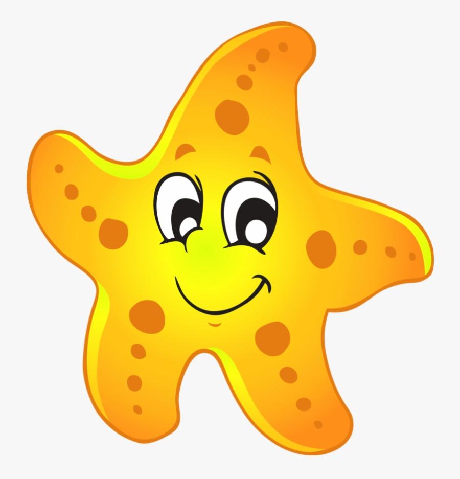 Cute Clipart Starfish - Starfish Clipart, Transparent Clipart