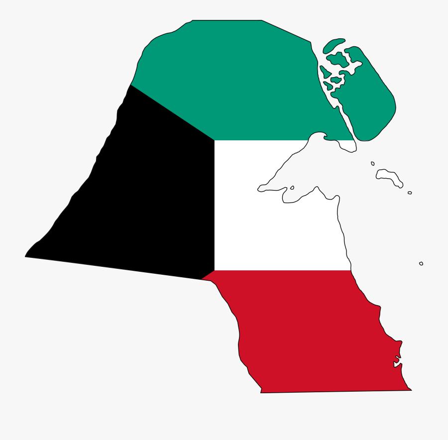 Kuwait Flag Map, Transparent Clipart