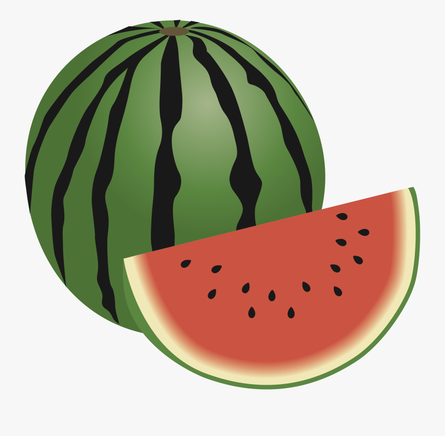 Clip Freeuse Library Whole Watermelon Clipart - Small Fruit Watermelon Clipart, Transparent Clipart
