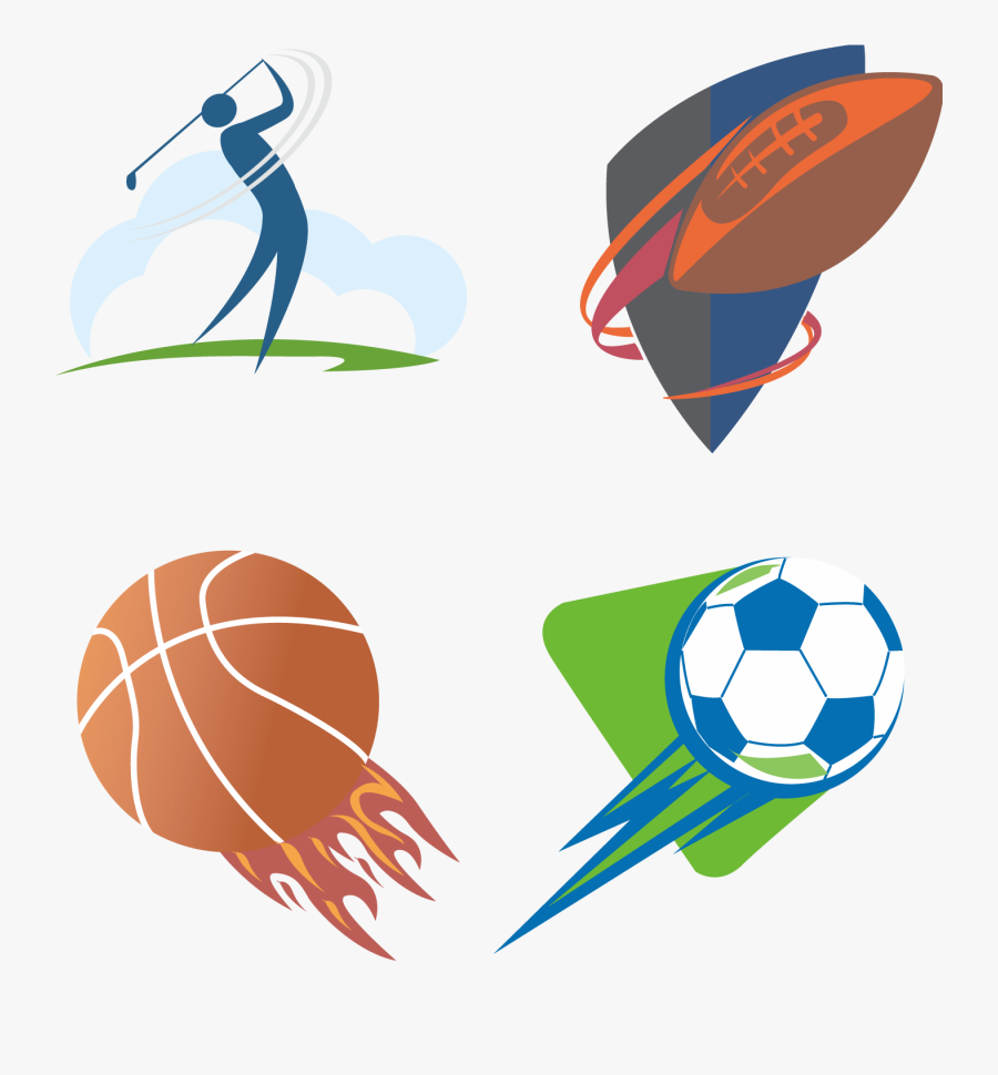 Sport Clip Art Logo Vector Transprent Png - Logo Png Vector Sport, Transparent Clipart