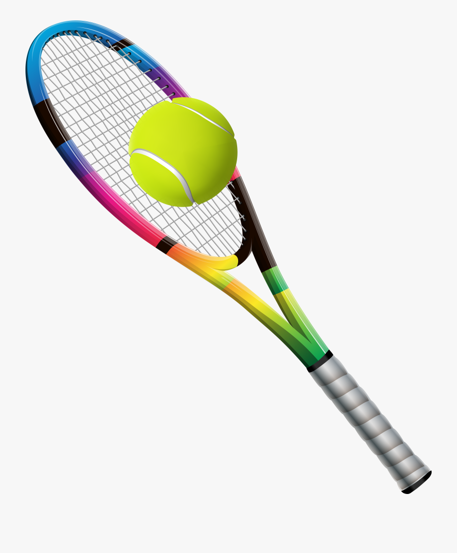 Sports Clipart Tennis No Background - Tennis Racket With Ball Png, Transparent Clipart