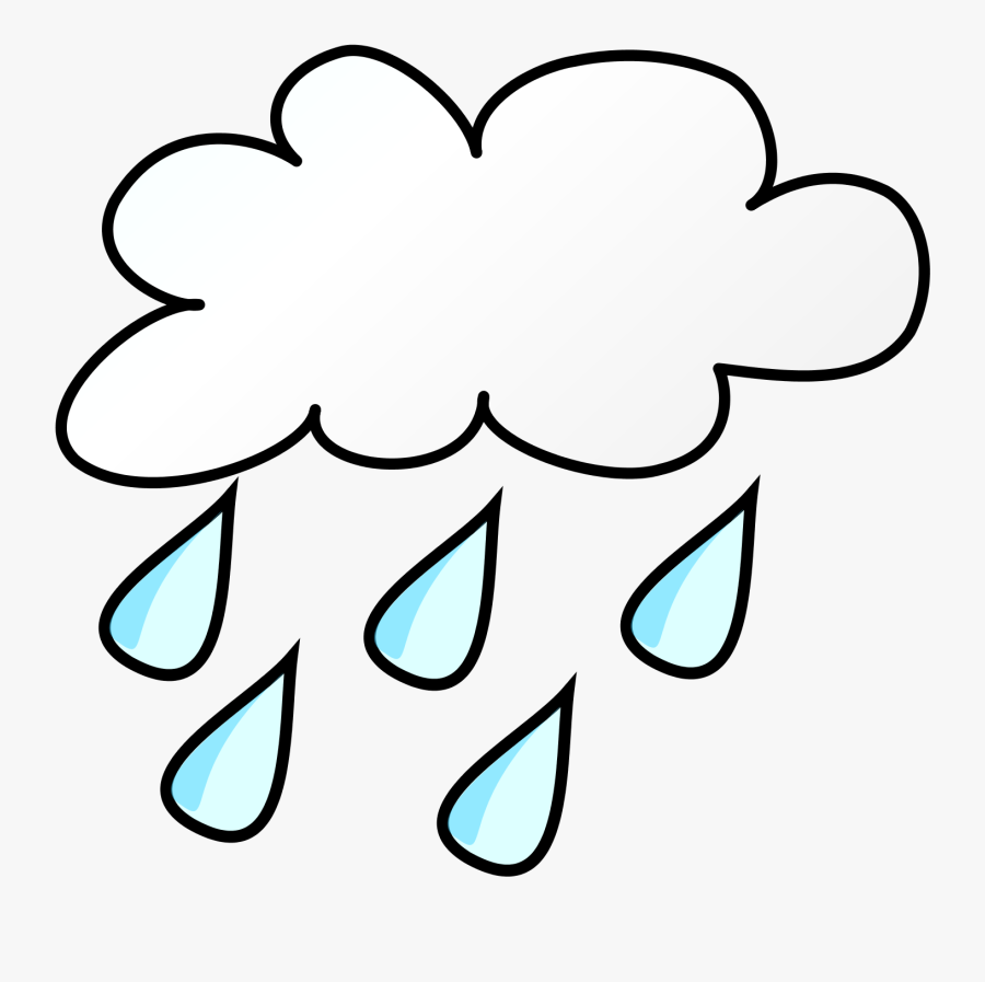 Rain Clip Art Black And White, Transparent Clipart