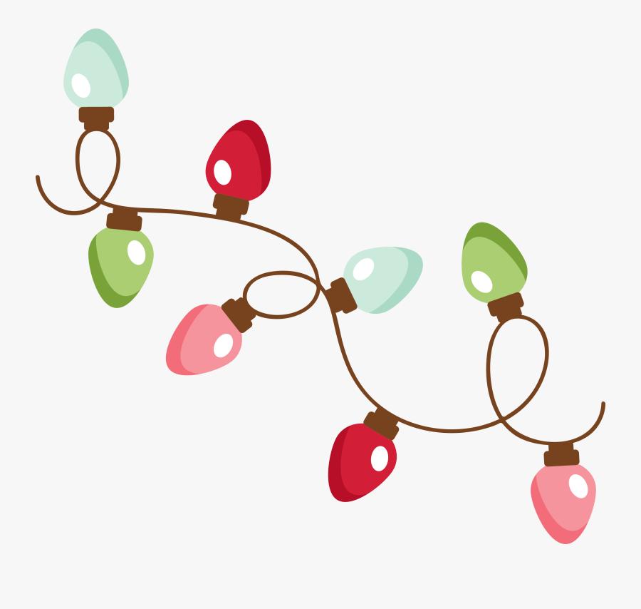 Christmas Lights Illustration Png, Transparent Clipart