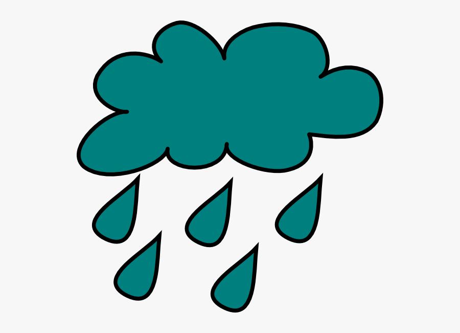 Cartoon Clouds And Rain Clipart - Rain Cloud Clipart Transparent, Transparent Clipart