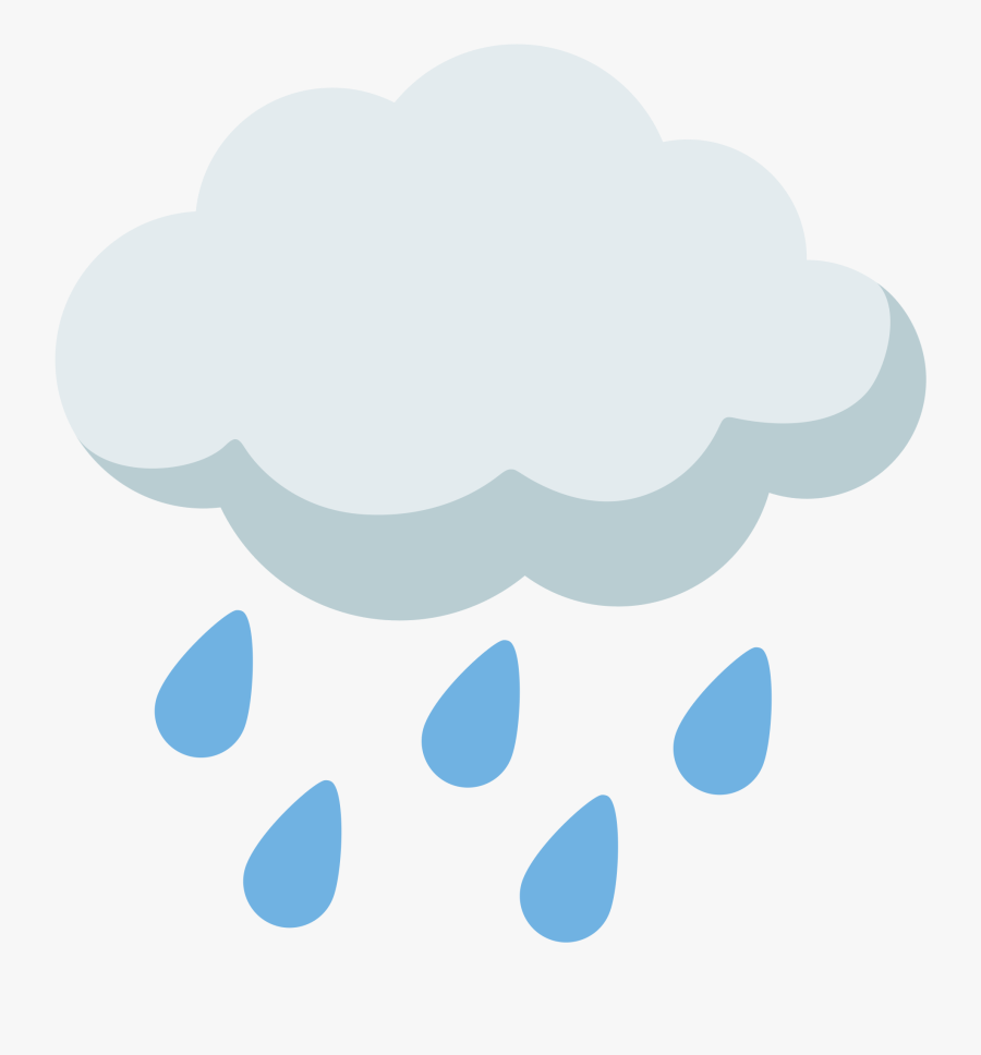 Clipart Rain Emoji - Transparent Background Rain Clipart, Transparent Clipart