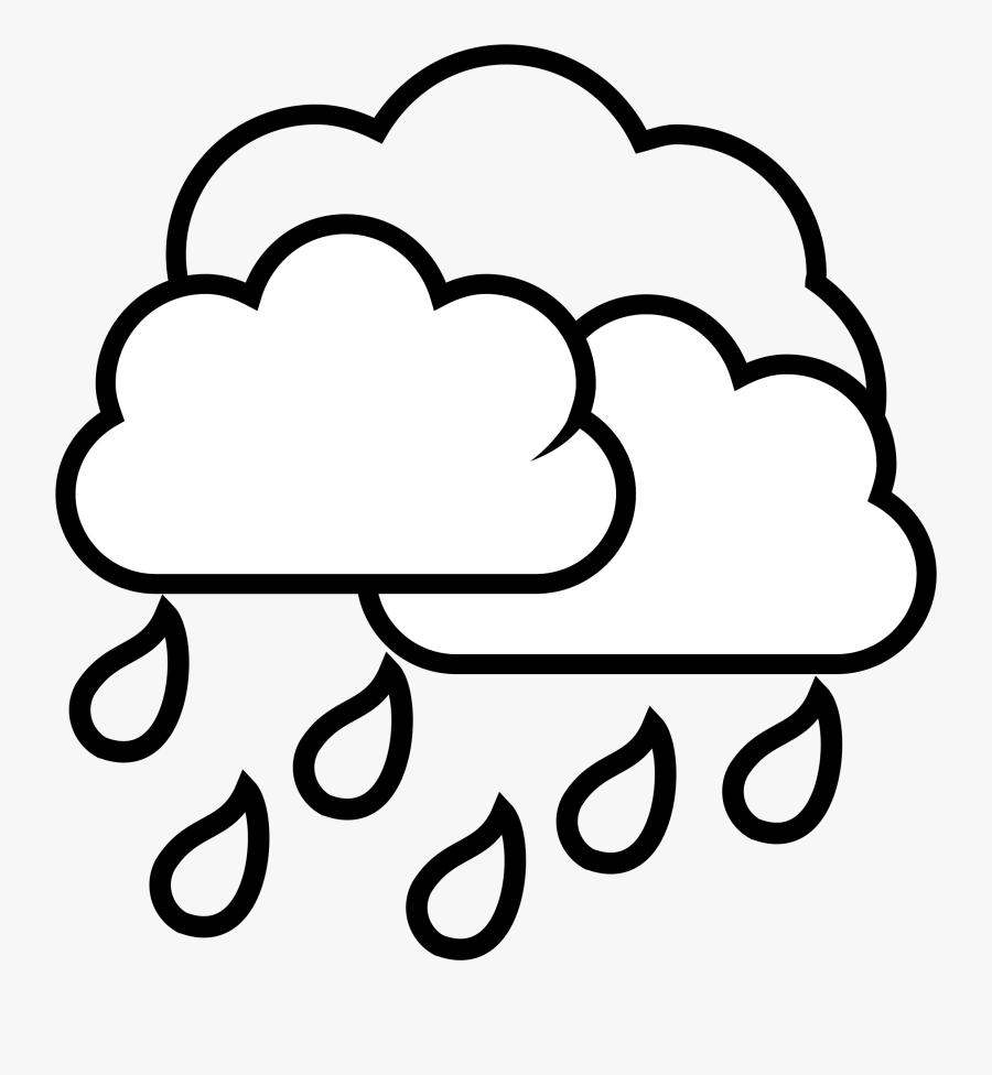 Rain Cloud Clipart Black And White, Transparent Clipart