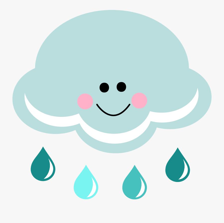 Happy Rain Cloud Clipart Clipartfest Wikiclipart - Clipart Cute Rain Cloud, Transparent Clipart