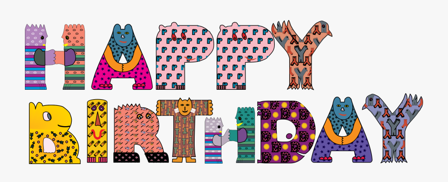 Birthday - Clipart - Happy Birthday Lettering For Baby, Transparent Clipart