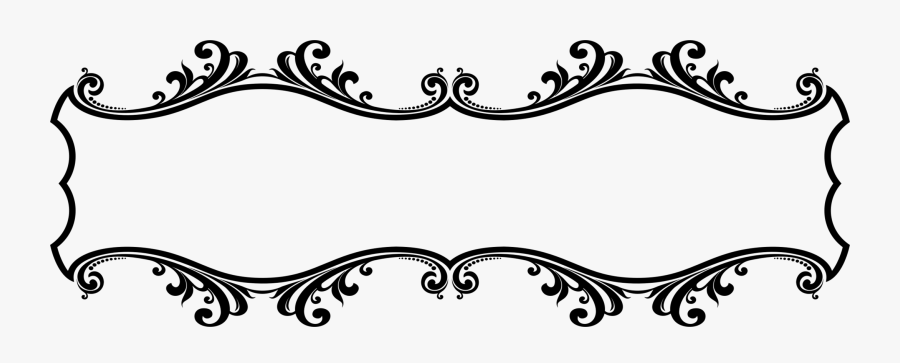 Transparent Ornament Clip Art - Border Design Black And White, Transparent Clipart
