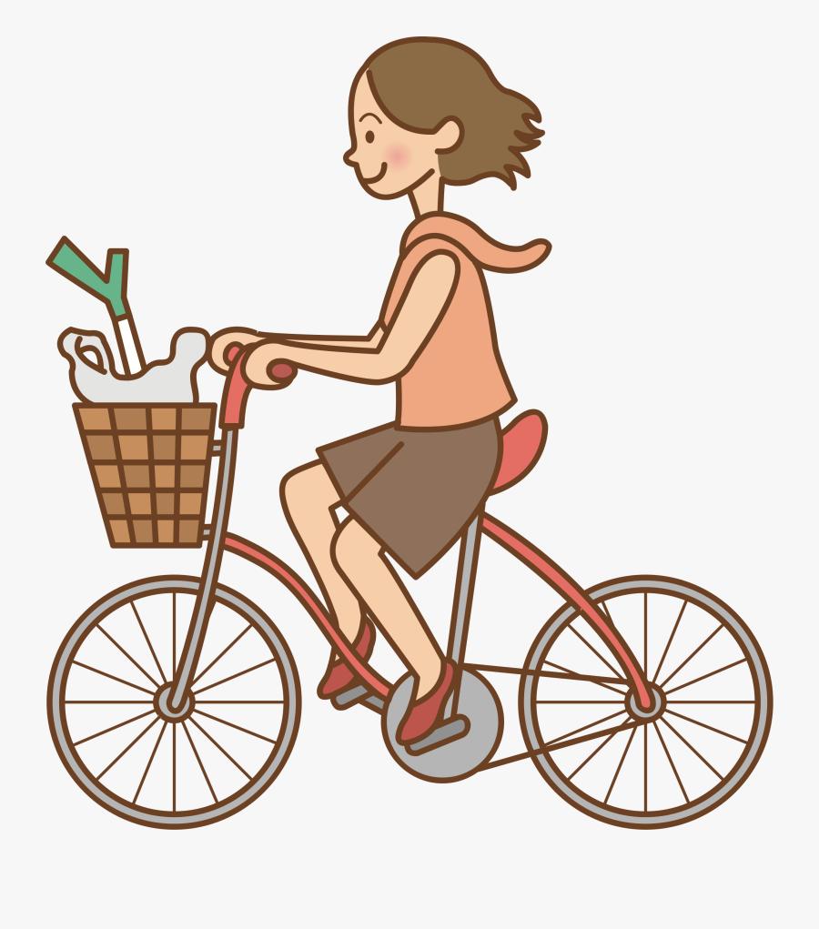 Clip Art Ride Bike Clipart - Ride A Bike Clipart, Transparent Clipart