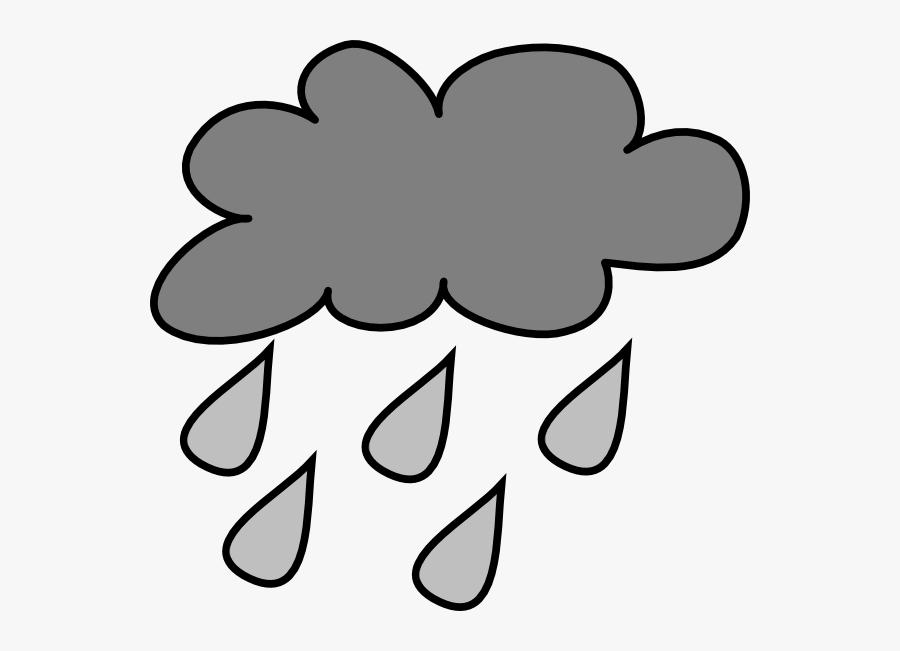 Hail - Clipart - Rain Cloud Clipart Transparent, Transparent Clipart