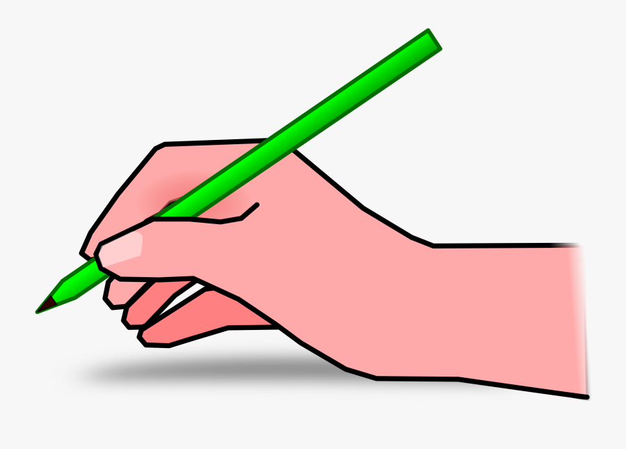 Pencil Clipart Mastergolflivestream - Hand Writing Clip Art, Transparent Clipart